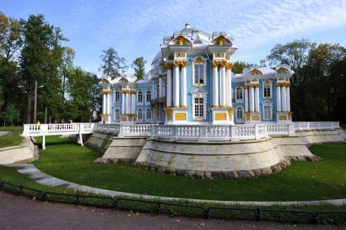 The Palace Ensemble Tsarskoe Selo The Grotto Building