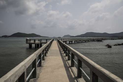 The Pier Gulf Of Thailand Landscapes