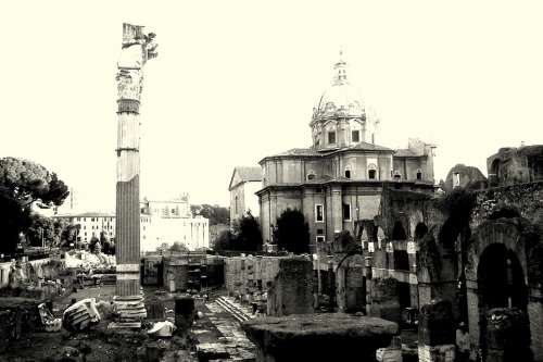 The Roman Forum Rome The Ruins Of The