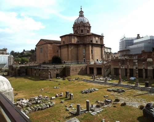 The Roman Forum Architecture Old Buildings