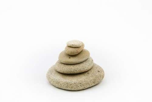 The Stones Stone On A White Background Zen