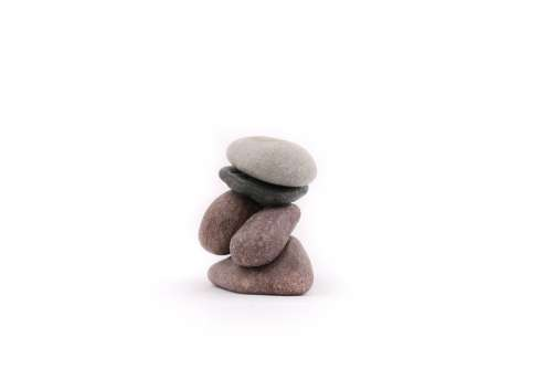The Stones Stone On A White Background Zen