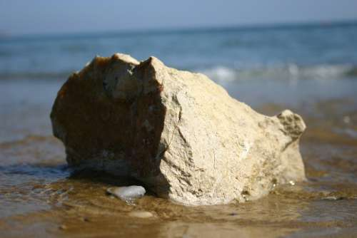 The Stones Greece Crete The Coast Beach