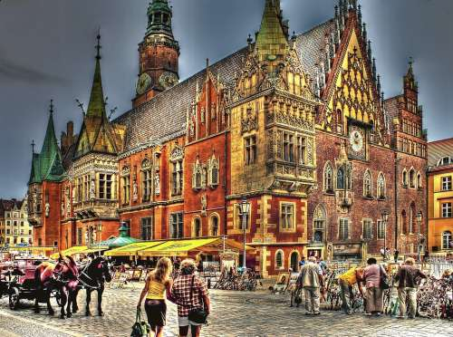 The Town Hall Wrocław Town Hall Architecture People