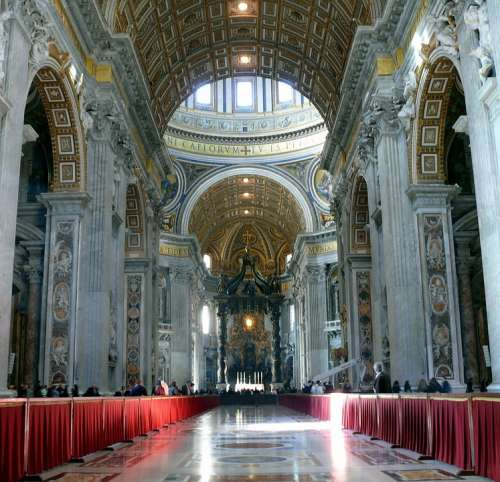 The Vatican Cathedral Of St Peter Rome The Basilica