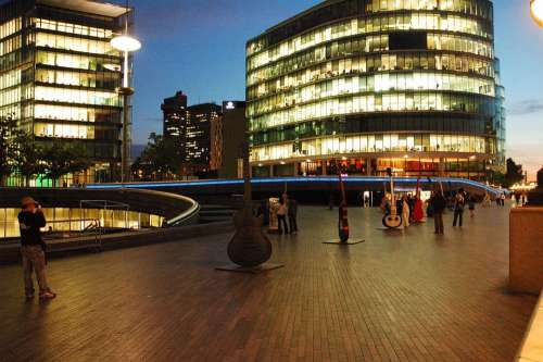 The Waterfront Evening Guitars Spacer London