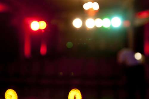 Theater Spotlight Colorful Bokeh Atmosphere Light