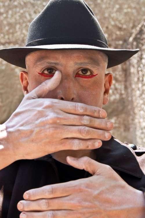 Theatre Makeup Fantasy Hands Art Man