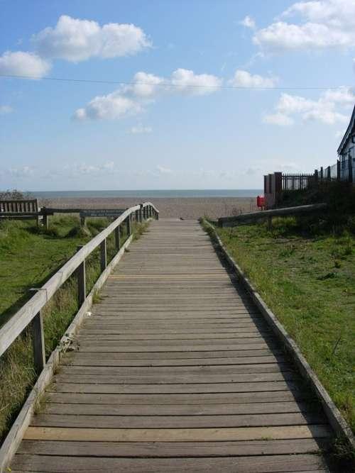 Thorpeness Boardwalk Suffolk Beach Sea Aldeburgh