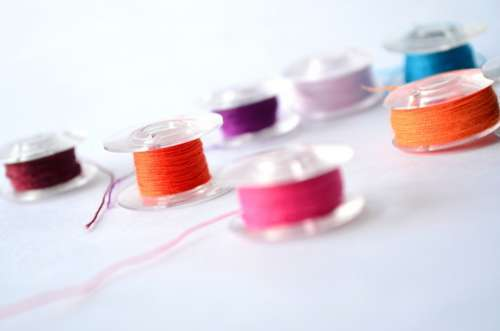 Threads Spools Colored Sewing Textile Craft Sew