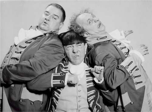Three Stooges Joe Derita Moe Howard Larry Fine
