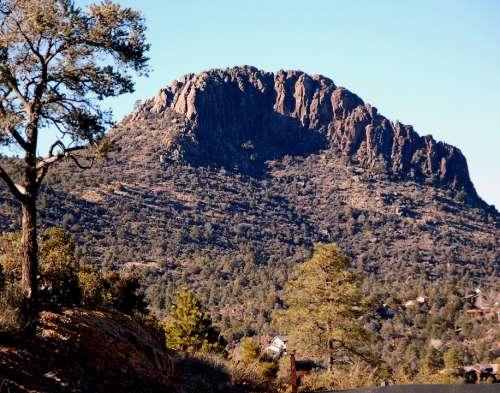 Thumb Butte Arizona Prescott Mountain Hiking Rock