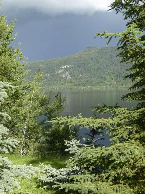 Thunderstorm Weather Canim Lake British Columbia