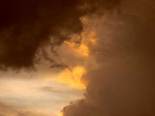 Thunderstorm Summer Dusk Sky Storm Clouds Form