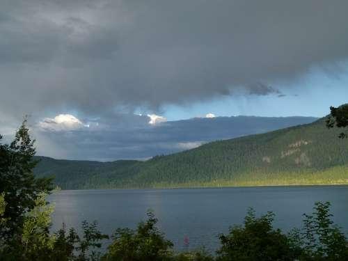 Thunderstorm Canim Lake British Columbia Canada