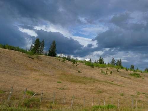 Thunderstorm Dark Clouds Weather Landscape