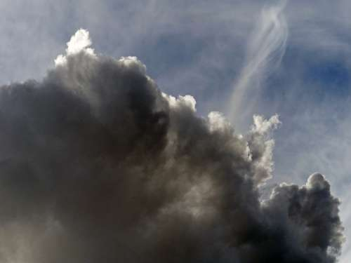 Thunderstorm Sky Clouds Dark Weather View Season