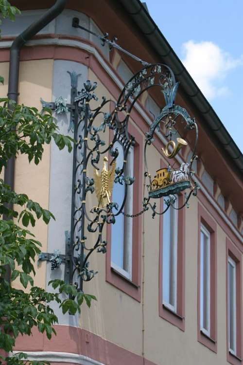 Thurn And Taxis Shield Hotel Sign History Berching
