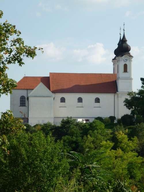 Tihany Monastery Church Hungary Abbey Steeple