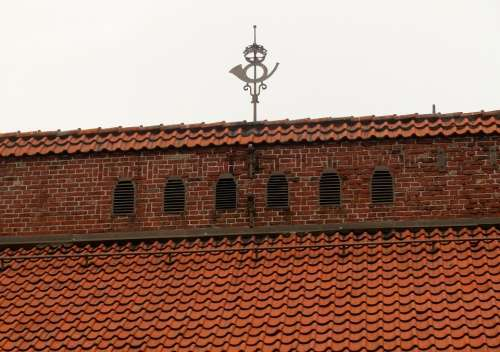 Tiled Roof Roof Building Historical Skåne