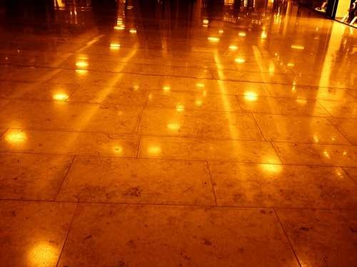 Tiles Ground Reflection Mirroring Lights