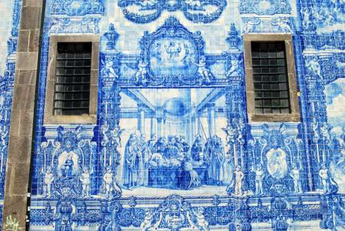 Tiles Ceramics Blue Windows Church Oporto