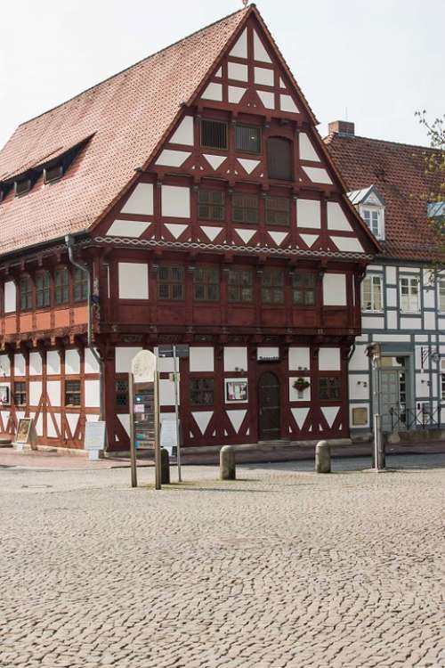 Timber Framed Building Building House Wall Facade