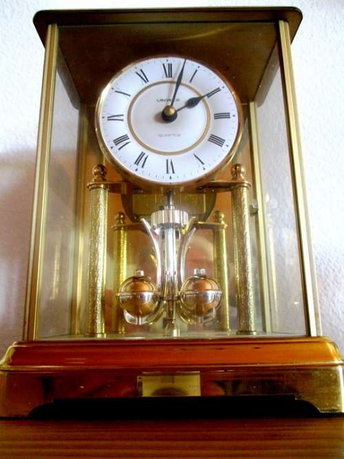 Time Clock Table Clock Grandfather Clock Golden