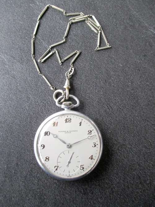 Time Clock Pocket Watch Housing Aluminium Chain