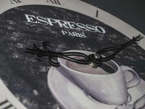 Time Espresso Coffee Clock Hands Break Idyllic