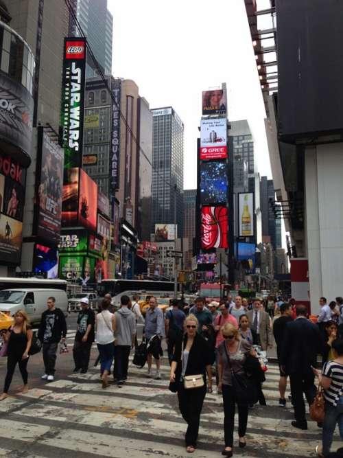 Times Square New York Nyc Broadway Skyscraper