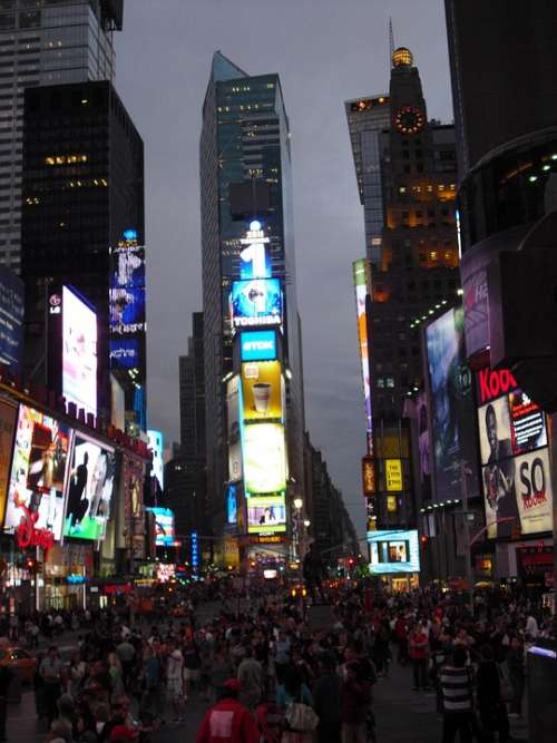 Times Square New York City Big Apple Nyc Broadway