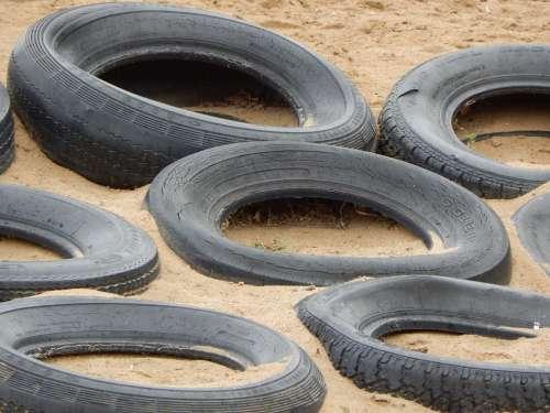 Tires Playground Sand Rubber Play Sandbox Outdoor