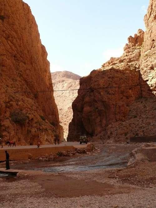 Todra Gorge Morocco Gorge Canyon Desert
