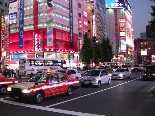 Tokyo Japan City Traffic Metropole
