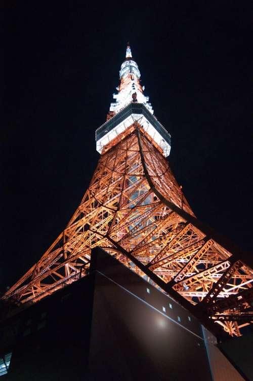 Tokyo Tower Japan Tokyo Night View