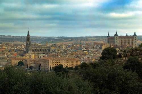 Toledo Castile - La Mancha Spain Panoramic City