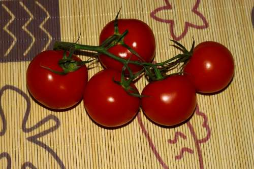Tomatoes Vegetables Eating Health Red Vitamins