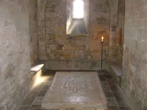 Tomb Crypt Medieval Lund Cathedral Kyrka Knight