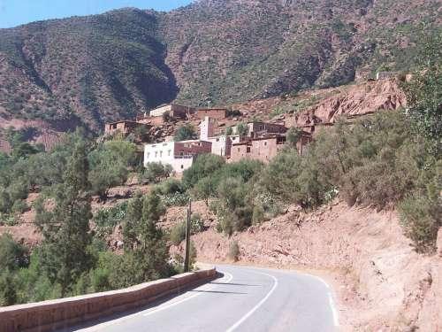Top Atlas Mountains Mountain Village Landscape