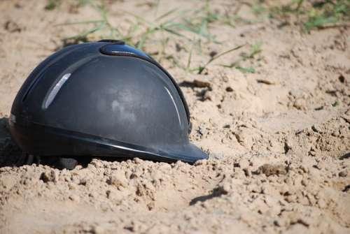 Toque Helmet Horseback Riding Mud Sand Horses