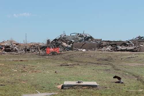 Tornado Destruction Moore Oklahoma Briarwood School