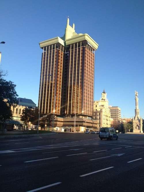 Torres De Colón Madrid Skyscraper In Madrid