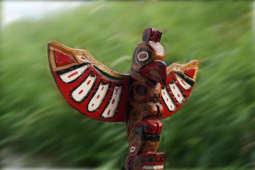 Totem Cult Of The Dead Holzfigur Indians Customs