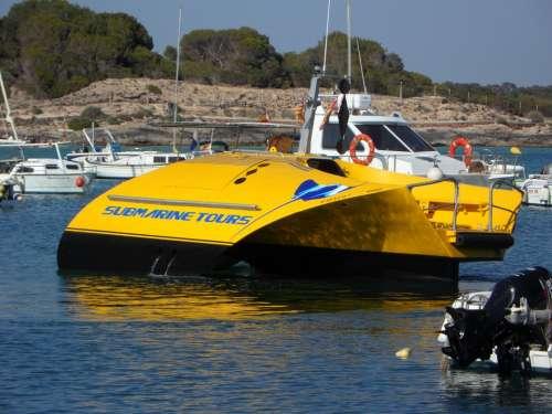 Tourism Boat Glass Bottom Boat Water Sea Port