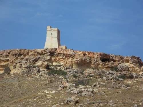 Tower Watchtower Cliffs Defense Rock Historically