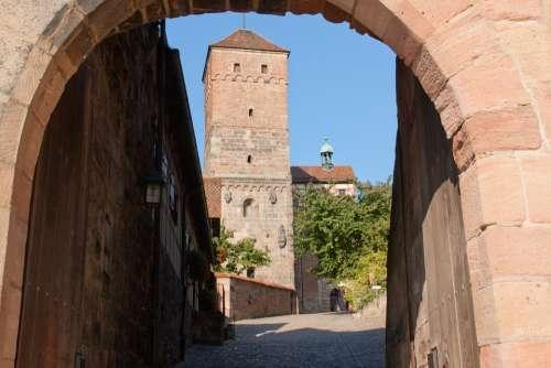 Tower Building Castle Nuremberg Historic Center