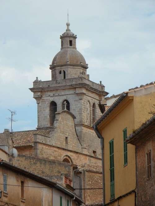 Tower Church Mallorca Steeple Sky Building