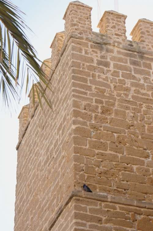 Tower Battlement Spain Cadiz