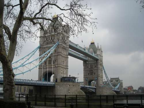 Tower Bridge London Bridge Clouds
